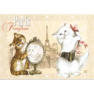 Froufrou, Carte postale de Séverine Pineaux  - Chats de Paris