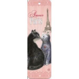 Amour, Marque page de Séverine Pineaux - Chats de Paris