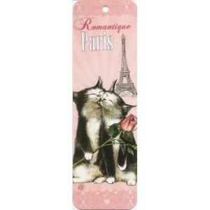 Romantique, Marque page de Séverine Pineaux - Chats de Paris