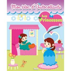 Mon bloc d'autocollants Les Princesses, éditions Piccolia