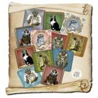 12 dessous de verre Histo-chats de Séverine Pineaux,
