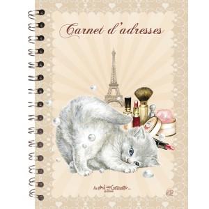 Carnet d'adresses Chat de Séverine Pineaux, un répertoire original des Chats enchantés