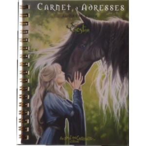 Carnet d'adresses Princesse et Cheval de Sandrine Gestin, un répertoire original des Mondes merveilleux