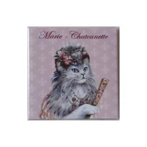 Magnet de chat de Séverine Pineaux, Marie Chatounette, aimant décoratif des Histochats