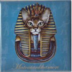 Magnet de chat de Séverine Pineaux, Matoutankhamon, aimant décoratif des Histochats