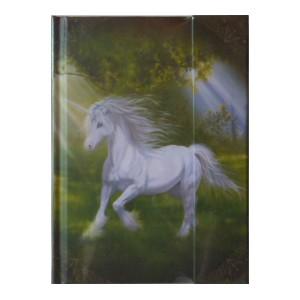 Notes book Licorne de Sandrine Gestin, un grand carnet des Mondes merveilleux