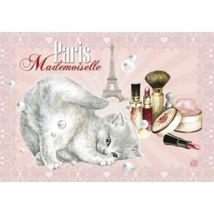 Mademoiselle, Magnet déco de Séverine Pineaux - Chats de Paris