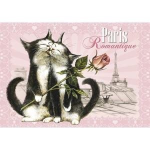 Romantique,Magnet de chat de Séverine Pineaux - Chats de Paris