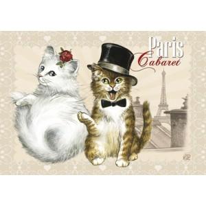 Cabaret, Magnet de chat de Séverine Pineaux - Chats de Paris