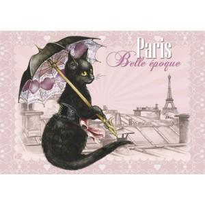 Belle époque,Aimant décoratif de Séverine Pineaux  – Chats de Paris