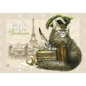 Sorbonne, Magnet pour frigo de Séverine Pineaux  – Chats de Paris