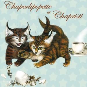 Chaperlipopette et Chapristi, Aimant décoratif de Séverine Pineaux  - Chats enchantés