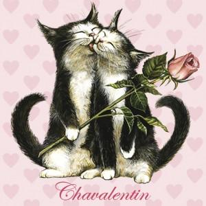 Chavalentin, Magnet déco de Séverine Pineaux - Chats enchantés