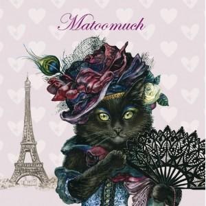 Matoomuch, Magnet de chat de Séverine Pineaux - Chats Enchantés