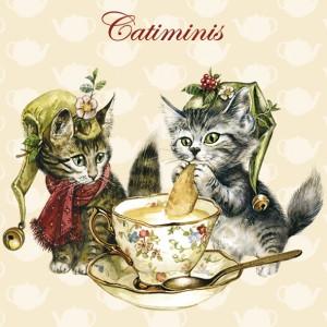 Catiminis, Magnet déco de Séverine Pineaux - Chats enchantés
