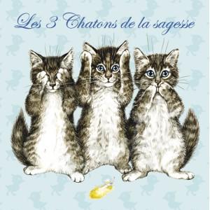 Chatons de la sagesse, Magnet de chat de Séverine Pineaux - Chats Enchantés