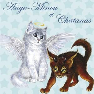 Ange-Minou et Chatanas, Magnet pour frigo de Séverine Pineaux  - Chats enchantés