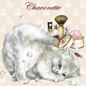 Chavonette, Magnet de chat de Séverine Pineaux - Chats Enchantés