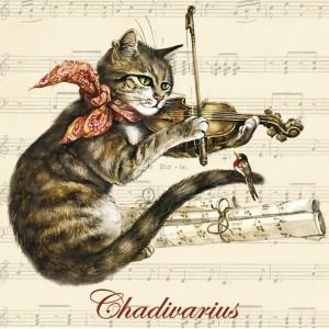 Chadivarius, Aimant décoratif de Séverine Pineaux  - Chats enchantés