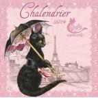 Chalendrier 2014, calendrier mural de Séverine Pineaux – Les chats enchantés