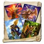 4 cartes de voeux Archanges de Briar