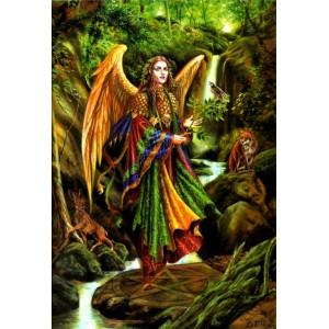 Carte de voeux Archange Uriel de Briar