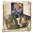 3 cartes de vœux mythologie de Briar