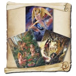3 cartes de voeux mythologie de Briar