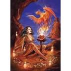 Carte de voeux fantasy, Phoenix Rising de Briar