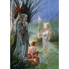 Carte de voeux fantasy, Lady of the lake de Briar