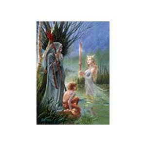 Carte de voeux fantasy, Lady of the lake de Briar