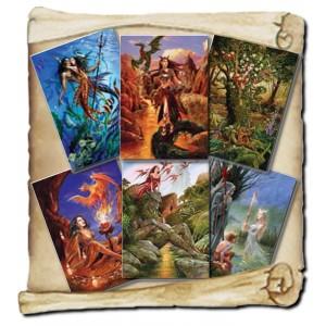 6 cartes de voeux Fantasy de Briar