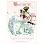 Affichette de chat de Séverine Pineaux, Chavonette de la collection des Chats Enchantés