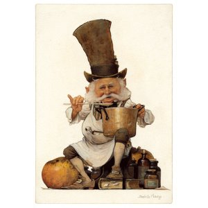 Cuisinier, carte postale de Jean-Baptiste Monge