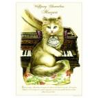Affichette de chat de Séverine Pineaux, Wolfgang Chamadeux Maozart, de la collection Histochats
