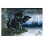 Carte postale de chat de Séverine Pineaux, Matoutretombe, coll. Chats enchantés 2014