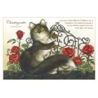Carte postale de chat de Séverine Pineaux, Chastagnette, coll. Chats enchantés 2014