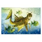 Carte postale de chat de Séverine Pineaux, Chaquarelle, coll. Chats enchantés 2014