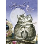 Agenda des Chats enchantés 2015 de Séverine Pineaux, agenda annuel aux éditions Au Bord des Continents
