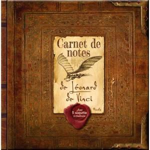 Carnet de notes de Léonard de Vinci, livre et 5 maquettes pour enfants, aux éditions Piccolia