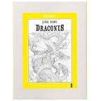 Draconis, frise à colorier: Coloriage de dragon de John Howe aux éditions Quatre fleuves