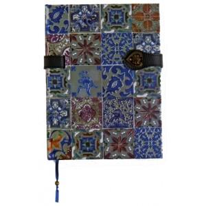 Joli carnet ligné Alhambra coll. Azuléjos du Portugal, Carnets Boncahier des éd. Piccolia