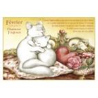 Carte postale de chat de Séverine Pineaux, mois de Février Chamour toujours