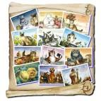 12 Cartes postales de chats de Séverine Pineaux, Chats de l'année