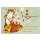Carte postale de chat de Séverine Pineaux, Channiversaire mod. 2