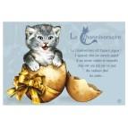Carte postale de chat de Séverine Pineaux, Channiversaire mod. 4