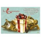 Carte postale de chat de Séverine Pineaux, Channiversaire mod. 5