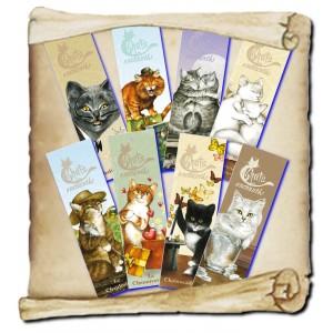 8 marques pages des chats enchantés de Séverine Pineaux