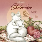 Calendrier des chats de Séverine Pineaux, grand calendrier mural 2016