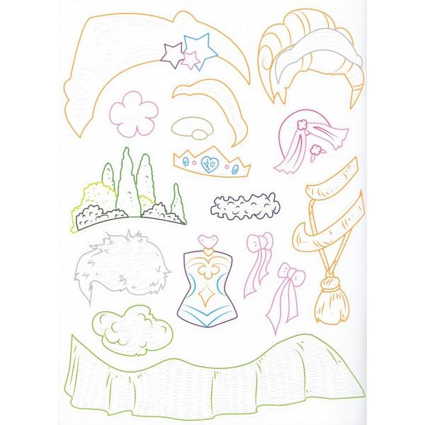 Coloriages en relief les princesses aux ditions piccolia - Coloriage relief ...